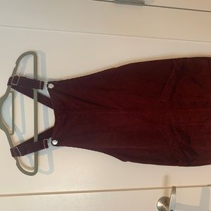 Topshop Corduroy Maroon Dress